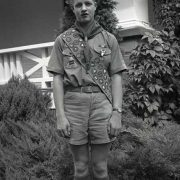 Historic Black & White photo of a Boy Scout