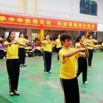 Chinese Kids giving a Kung Fu Salute