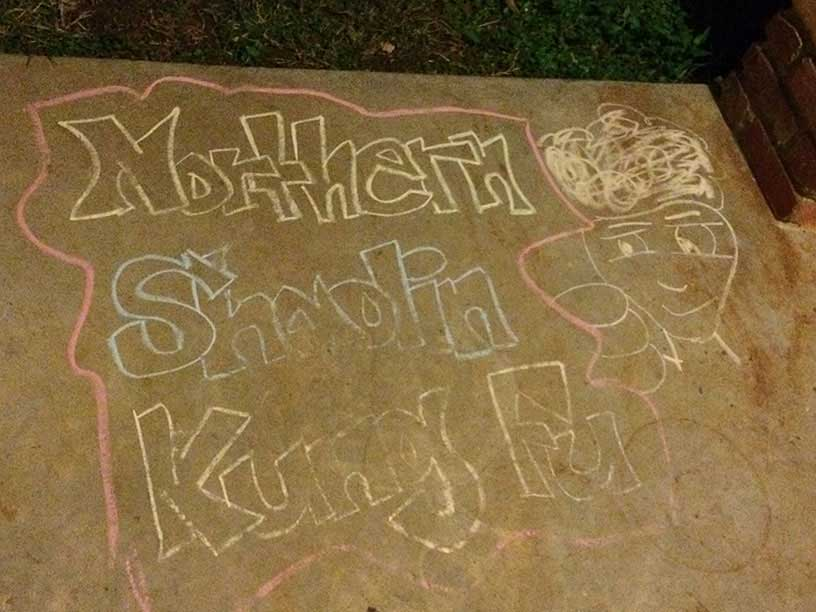 Northern Shaolin Kung Fu Chalk Drawing by Key in September 2016
