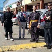 PATHS Atlanta Kung Fu Demo Team taking a break during 2018 Chinese New Year demonstrations