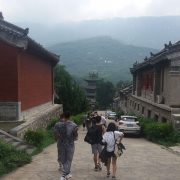 Shaolin Temple in China - Back Road headed to the demo!
