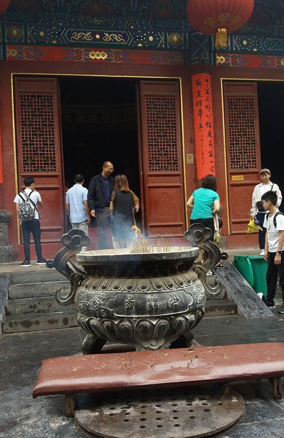 Incense Urn at Shaolin Temple of China