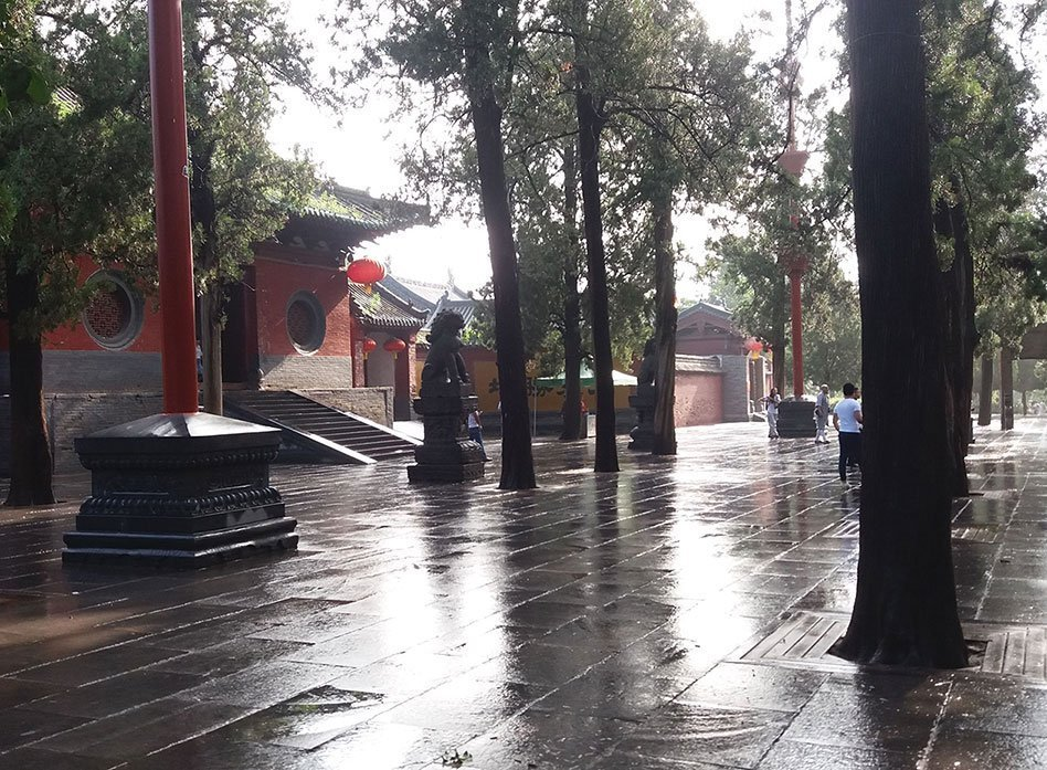 Rainy Day Kung Fu Training @ Shaolin Temple, Henan, China